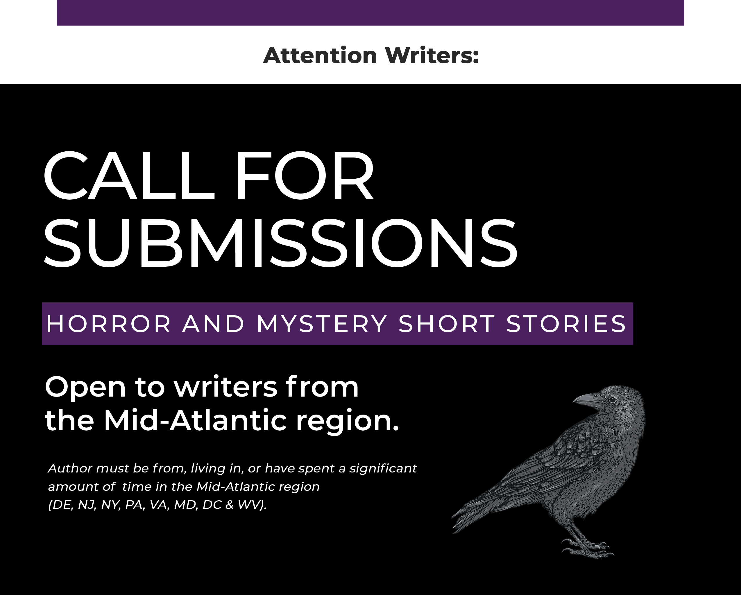 flyer for writers to submit their work